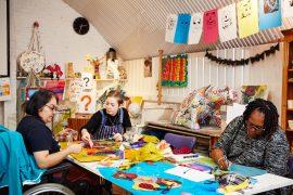 Art studio 2 Leon – Tirzah, Connie and Sandra