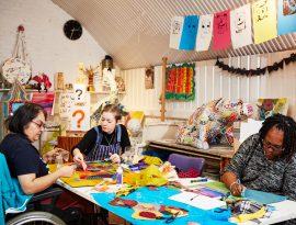 Art studio 2 Leon - Tirzah, Connie and Sandra